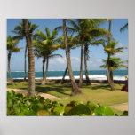 Vista al mar del Caribe Puerto Rico - Artby Galina Poster