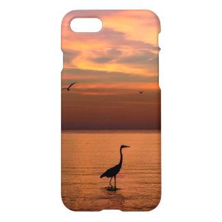 Vista al mar en la puesta del sol funda para iPhone 7