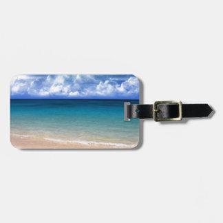 Vista al mar etiquetas maleta