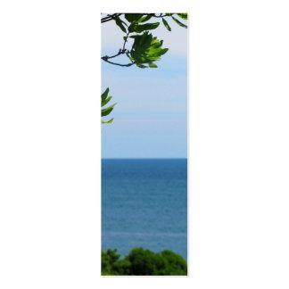 Vista al mar obstruida tarjetas de visita mini