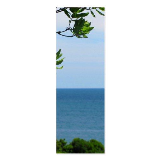 Vista al mar obstruida tarjeta de visita
