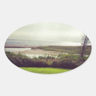 Vista al mar colcomanias de ovaladas