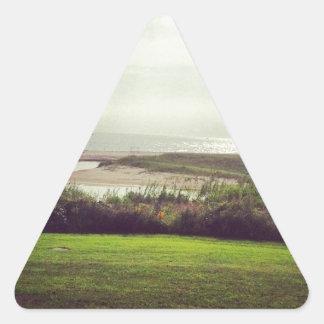 Vista al mar calcomanía de triangulo personalizadas