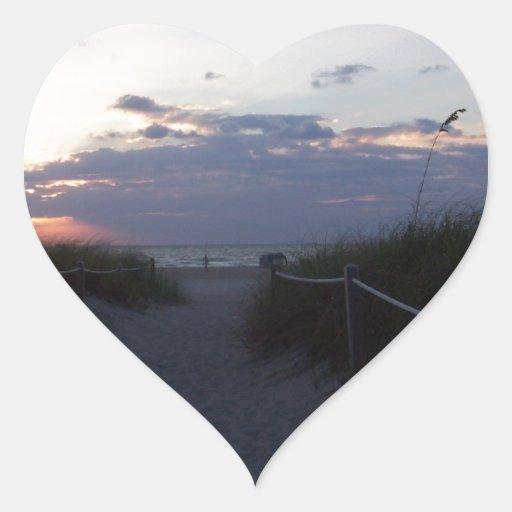 Vista al mar pegatina en forma de corazón