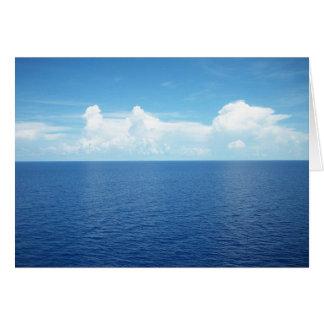 Vista al mar tarjeta pequeña