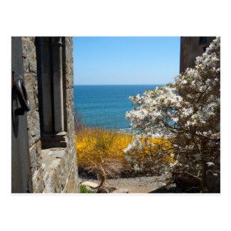 Vista al mar tarjetas postales