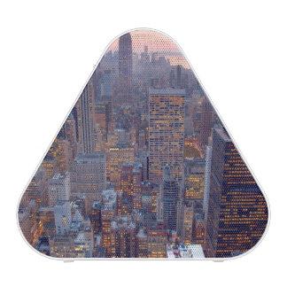 Vista amplia de Manhattan en la puesta del sol Altavoz Bluetooth
