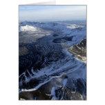 vista areial de la caldera Alaska del aniakchak Tarjeta Pequeña