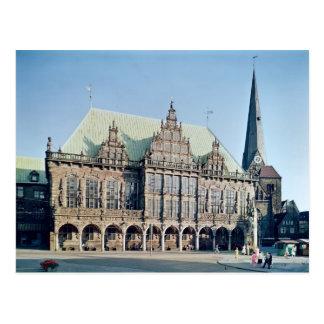 Vista ayuntamiento construida 1405-09 tarjeta postal