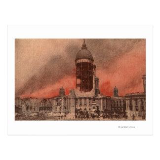 Vista ayuntamiento después del terremoto postal