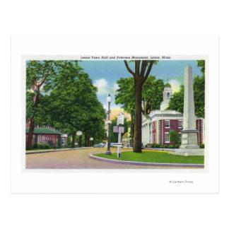 Vista ayuntamiento y del monumento de Paterson Tarjetas Postales