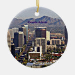 Vista céntrica de Phoenix, Arizona Ornamento Para Reyes Magos