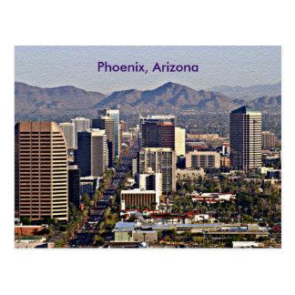 Vista céntrica de Phoenix, Arizona Tarjetas Postales