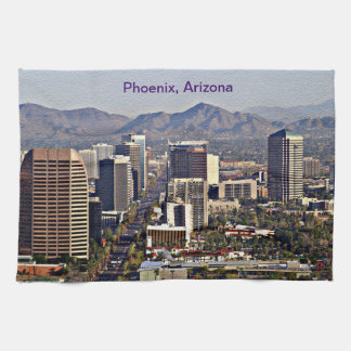 Vista céntrica de Phoenix, Arizona Toalla De Mano