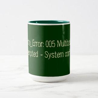 Vista Confused Error Code Two-Tone Coffee Mug