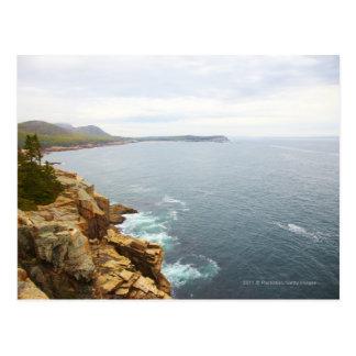 Vista costera del parque nacional del Acadia Postal