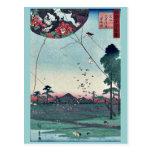 Vista de Akiba de Enshu por Utagawa, Hiroshige Postal