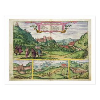 Vista de Alhambra, de 'Civitates Orbis Terrar Tarjetas Postales