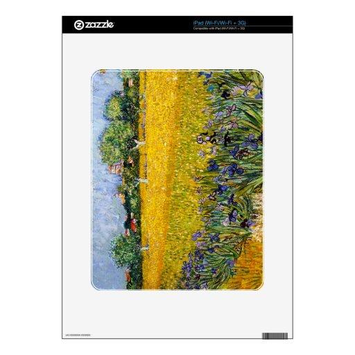Vista de Arles con la pintura de Vincent van Gogh  Calcomanía Para iPad