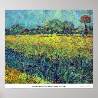 Vista de Arles con los iris de Vincent van Gogh Impresiones