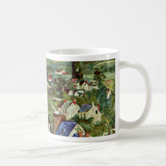 Vista de Auvers de Paul Cézanne (la mejor calidad) Tazas
