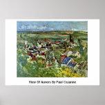 Vista de Auvers de Paul Cezanne Posters