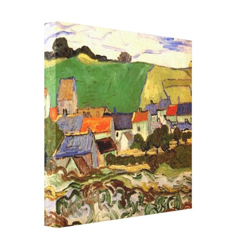 Vista de Auvers de Vincent van Gogh Lienzo Envuelto Para Galerías