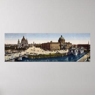 Vista de Berlín al final del siglo Posters
