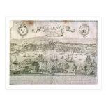 Vista de Burdeos y del río Garona, firmada cerca Postal