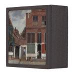 Vista de casas en Delft la pequeña calle Caja De Joyas De Calidad