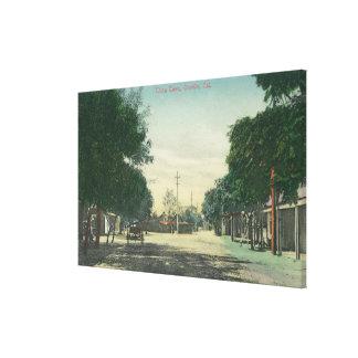 Vista de ChinatownOroville, CA Impresión De Lienzo