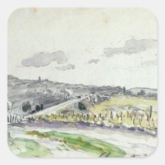 Vista de Clamart, 1864 Colcomanias Cuadradas