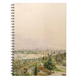 Vista de Constantinopla de Pera Spiral Notebook