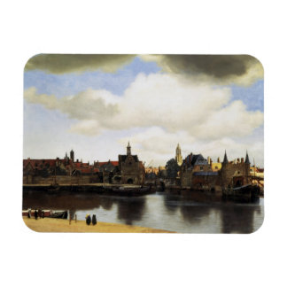 Vista de Delft de Juan Vermeer Imanes De Vinilo