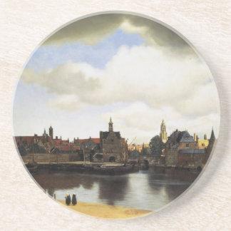 Vista de Delft de Juan Vermeer Posavasos Para Bebidas