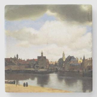 Vista de Delft de Juan Vermeer Posavasos De Piedra