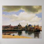 Vista de Delft de Juan Vermeer Poster