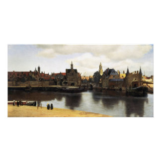 Vista de Delft de Juan Vermeer Tarjeta Fotografica Personalizada
