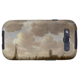 Vista de Dordrecht rio abajo del Grote Kerk, Galaxy S3 Fundas