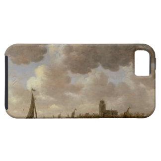 Vista de Dordrecht rio abajo del Grote Kerk, iPhone 5 Funda