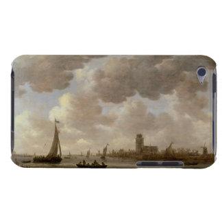 Vista de Dordrecht rio abajo del Grote Kerk, iPod Case-Mate Cárcasa
