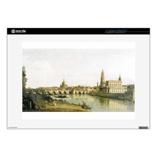 Vista de Dresden de la orilla derecha del Elba Skins Para 38,1cm Portátil