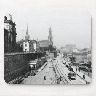 Vista de Dresden del Bruehlsche Terrasse Alfombrillas De Ratones