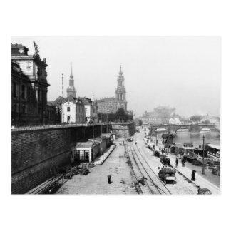Vista de Dresden del Bruehlsche Terrasse Tarjetas Postales