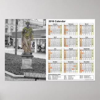 Vista de Dresden/del calendario 2016 DINA4 Póster