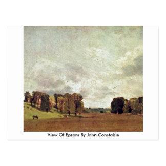 Vista de Epsom de John Constable Tarjeta Postal