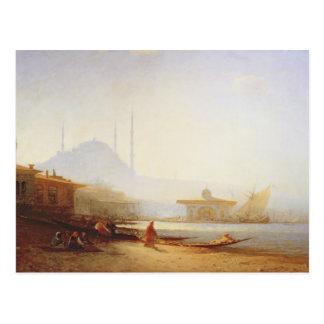 Vista de Estambul, 1864 (aceite en lona) Tarjeta Postal