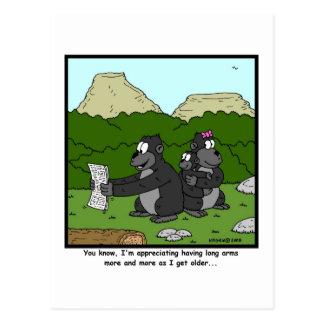 Vista de fall Dibujo animado del gorila Tarjeta Postal