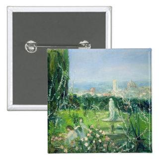 Vista de Florencia, c.1909 Pin Cuadrada 5 Cm
