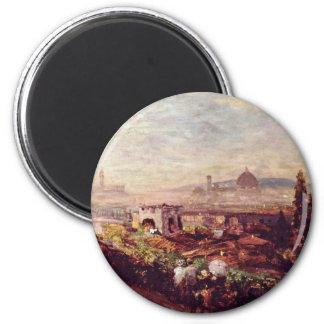Vista de Florencia de Oswald Achenbach (la mejor c Imán De Nevera